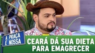 Matheus Ceará dá sua dieta emagrecer como ele | A Praça É Nossa (02/03/17)