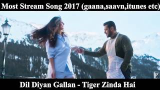 Most Viewed/Liked/Streamed Bollywood/Indian Songs/Trailer 2017