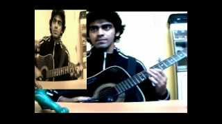 Anupam Roy ' s Amake amar moto thakte dao cover by Himanish with lyrics