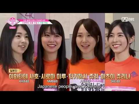 (ENG) PRODUCE 48 Class B - Language Difficulty & Helping Each Other