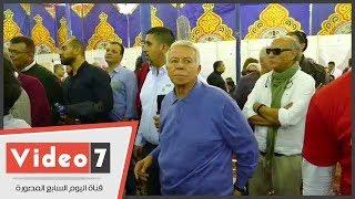 لحظة انفعال حسن حمدى على أحد أفراد الأمن بالأهلى خلال الانتخابات