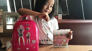 DIY Dekor Tas dengan sticker Barbie | HomeSchooling Belajar Mewarnai dan Dekorasi