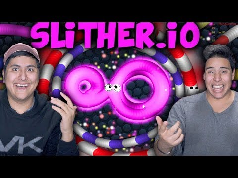 We Beat The Snake Game!!! (Slither.io)