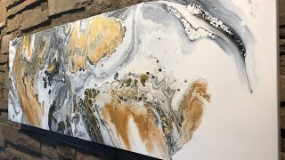 Fluid Painting Extreme Swipe Technique!! Acrylic Pouring Wigglz Art Beginners Welcome!! Please Share