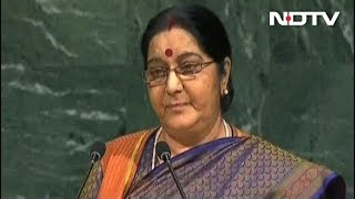 We Made IITs, Pakistan Made Lashkar, Says Sushma Swaraj At UN