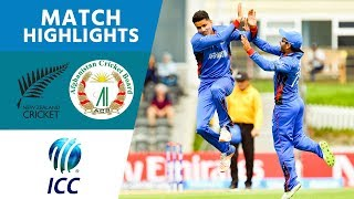 Highlights from Afghanistan's crushing U19s victory over New Zealand