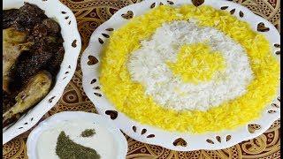 طرز تهیه برنج زعفرانی سریع (کته) بسیار خوشمزه
