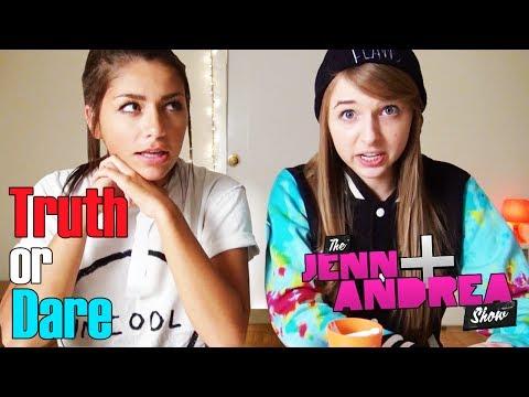 Andrea & Jenn play TRUTH OR DARE and eat HABANEROS! - THE ANDREA & JENN SHOW ep. 7