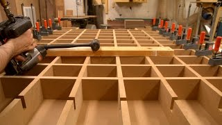 Torsion Box CNC or Assembly Table with Lumber Storage