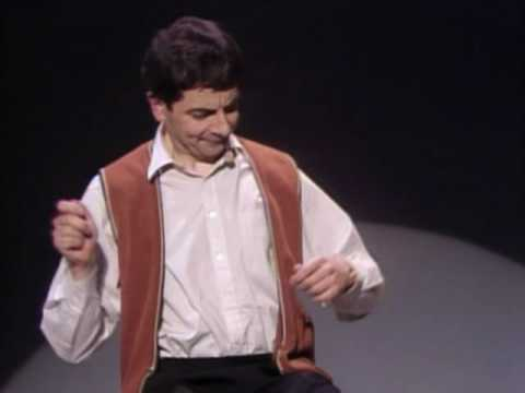 Rowan Atkinson Live Star of Mr.Bean Funny invisible drum