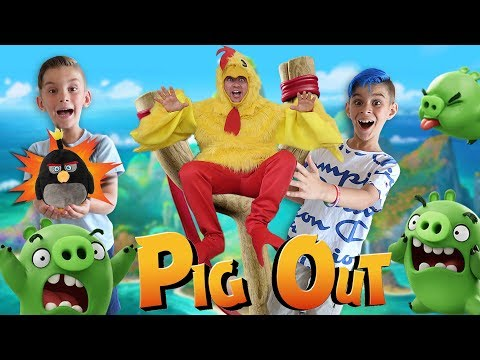 ANGRY BIRDS IN REAL LIFE Skit Gameplay & AR Toys by Jazwares