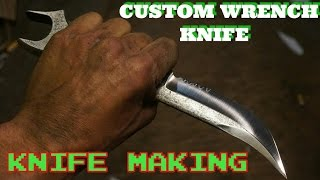 Making Knives - Razor Sharp Knife From A Wrench