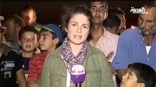 ثوار الصنمين في الزعتري يطالبون السلطات الاردنية ادخال اللاجئين العالقين على الحدود 9 9 2013