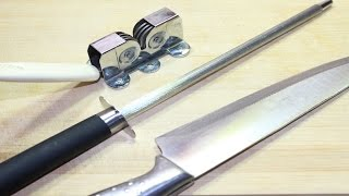 طريقة سن السكاكين بطريقة صحيحة للحصول على شفرة حادة جدا