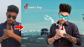 Picsart Tutorial Smoker Boy Heavy Editing like Photoshop Photo Manipulation Tutorial