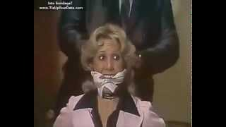 Classic scene - Blonde mature woman bound and gaged