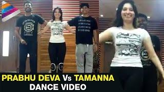 Prabhu Deva vs Tamanna Dance Practice | Abhinetri Telugu Movie | Amy Jackson | Sonu Sood