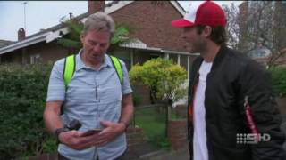 Alex Rance teaching Sam Newman how to play Pokemon GO
