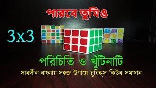 How Rubik's Cube Works ।। How to Solve Rubik's Cube Bangla Tutorial for Beginners