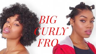 How To | The Perfect BIG Curly Fro