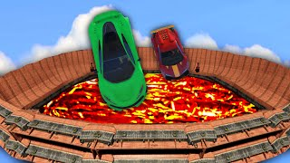 THE ULTIMATE LAVA PIT DERBY! (GTA 5 Funny Moments)