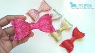 How To Make : Glitter Hair Bow - Hairclip | DIY by Elysia Handmade