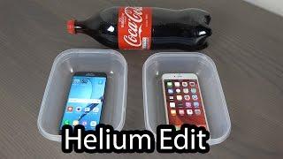 Samsung Galaxy S7 Edge vs. iPhone 6S Plus Coca-Cola Freeze Test! (Helium Edit)