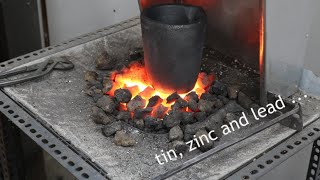 Smelting stuff -  Preparing a crucible