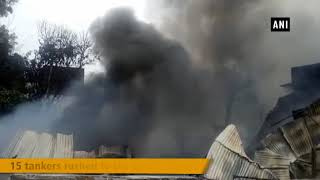 Massive fire breaks out at cooler factory in Aurangabad