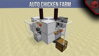 Minecraft 1.11.2: Full Automatic Chicken Farm - Extremely compact