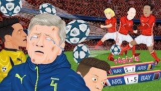 Parodia animada del Arsenal 1-5 Bayern de Champions League 7/3/2017