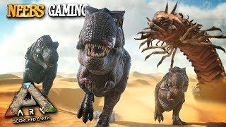 Ark: Survival Evolved - T-Rex Army vs Deathworm!!!