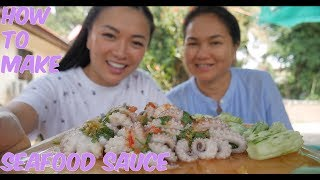 How To Make SEAFOOD SAUCE (Spicy Octopus With Seafood Sauce *LETS EAT) | SASVlogs