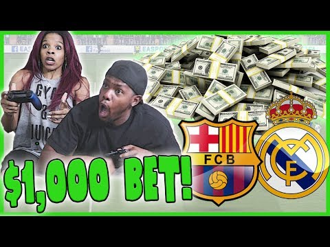 MY WIFE CHALLENGES ME IN FIFA! $1,000 ON THE LINE! - FIFA 17 Gameplay
