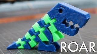 Dual Extrusion Flexi Rex / Two Color Print!