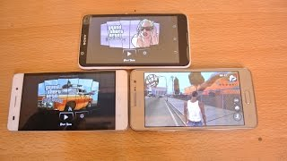 Sony Xperia E4 vs Galaxy Grand Prime vs Huawei Honor 4c - GTA San Andreas Gameplay