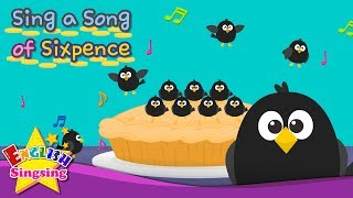 Sing a Song of Sixpence - Popular Nursery Rhyme - Kids song with lyrics - English Song For Kids