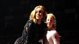 My daughter Jasmine's Selfie on stage with Adele...!!! @O2 18/03/2016