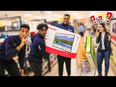 We Pretended To Work At The Grocery Store Fake Employee Prank