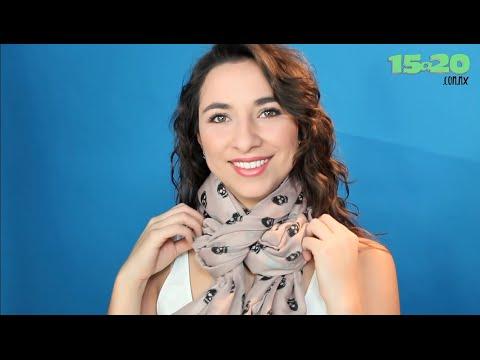 Como hacer nudos para bufandas pashminas y fulares