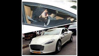 Ranveer Singh in his new Aston Martin