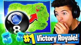 Using MAGIC 8 BALL to WIN FORTNITE: Battle Royale!?