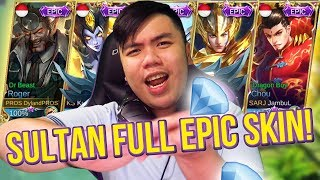 1 TEAM YOUTUBER TITISAN SULTAN FULL EPIC SKIN!?!? + EPIC CUMBACK! - Mobile Legends Indonesia #48
