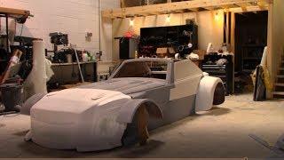 Putting together the Fiberglass HVR50 custom designed car body