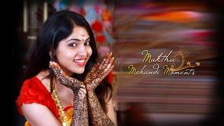 Malayalam actress Muktha | Mehandi moments | Celebrity wedding