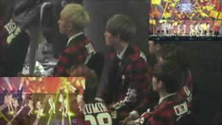 140123 SMA Baekhyun Focus Reaction to SNSD I Got a Boy