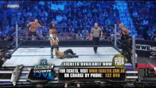 WWE SmackDown 4/23/10 Rey Mysterio & Kane vs CM Punk & Luke Gallows