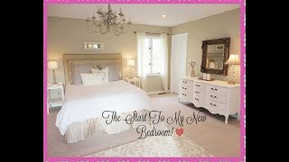 My New French Bedroom Makeover! VLOG #1