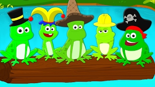five little speckled frogs   nursery rhymes   songs for children and babies