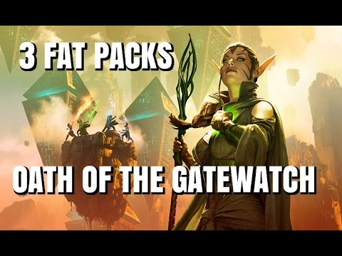 Unboxing 3 FAT PACKS for Oath of the Gatewatch: MTG, OGW